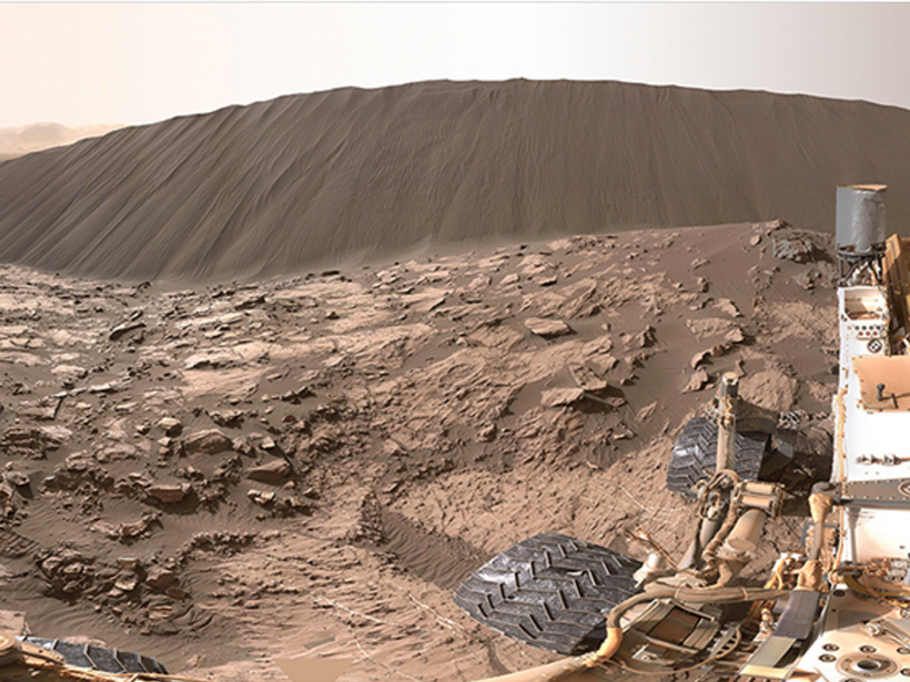 Researchers examine images taken by NASA's Curiosity rover to see how Martian sand dunes form.