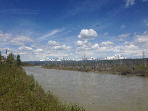 The North Fork Flathead River drains meltwater from mountains in northern Montana and southern Alberta, Canada.