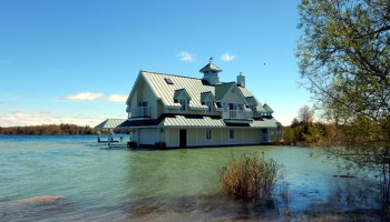 Flooding at a home on the Saint Lawrence River.