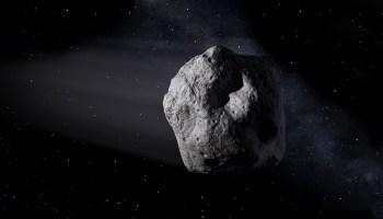 Artist's rendering of asteroid.