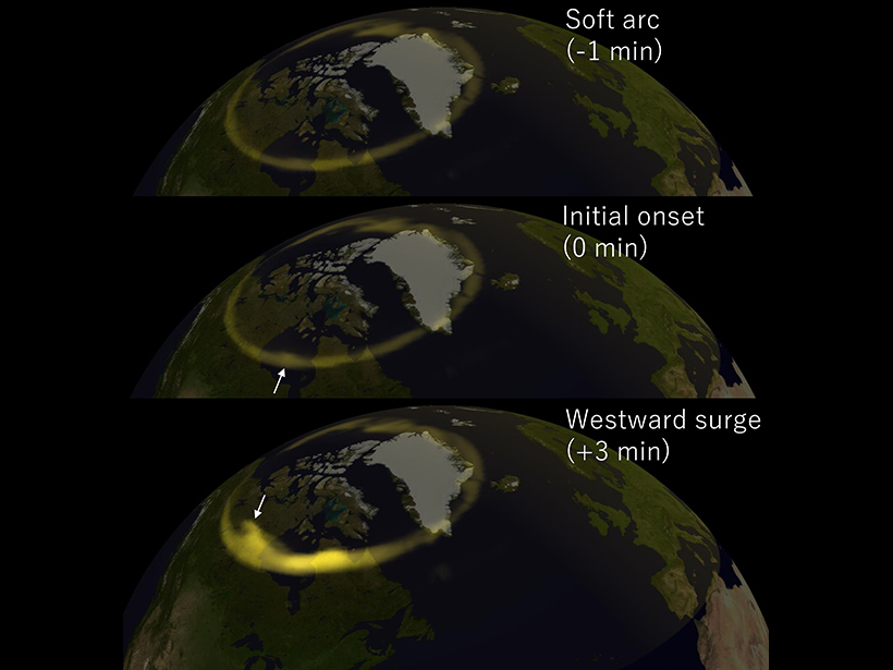 Researchers model the movement of strong auroral storms