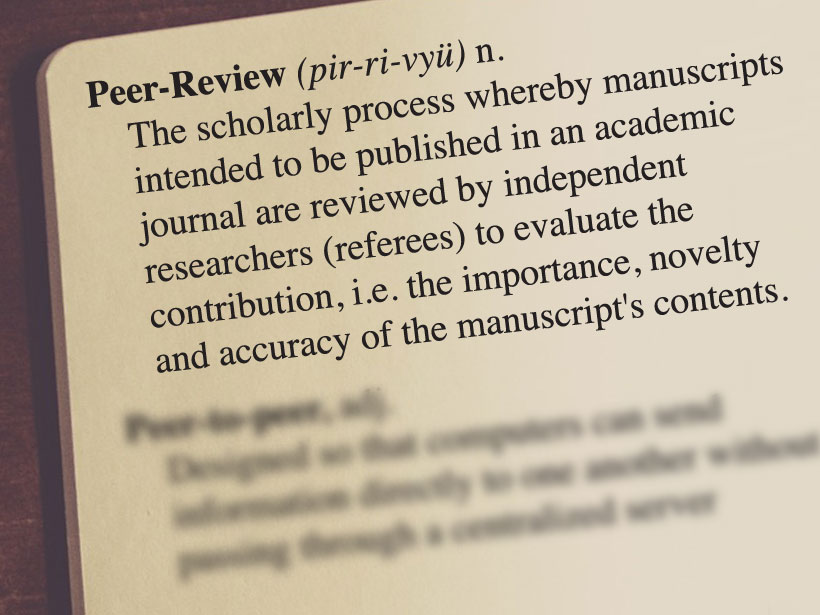 Definition of peer review from www.yourdictionary.com.