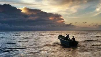 Fishermen in the Gulf of Mannar in the Indian Ocean.