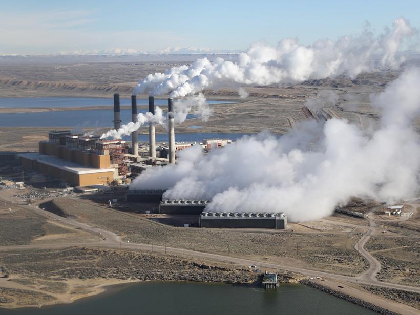 The coal-fired Jim Bridger power plant outside Rock Springs, Wyo.