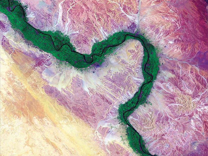 Satellite image of Nile River