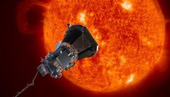 Parker Solar Probe spacecraft approaching the Sun.