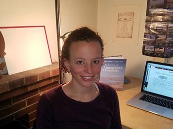Katie Travis in her home office. Credit: Katie Travis