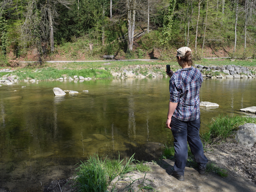 Citizen scientists can use smartphone apps to collect hydrological information from the streams they encounter.