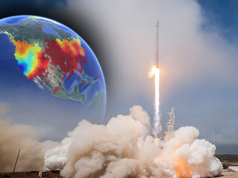 Researchers examine a large plasma hole generated by a satellite launch to understand the impacts of anthropogenic space weather.