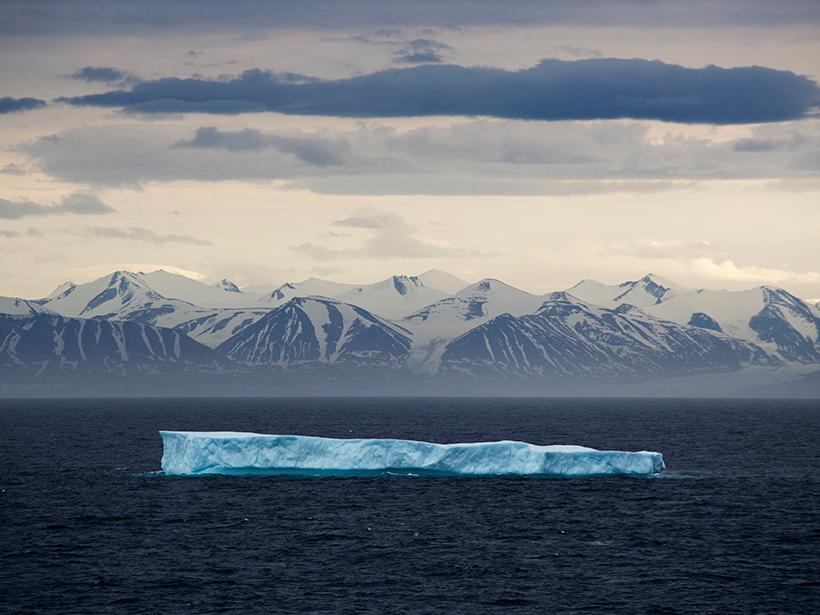 Iceberg near Bylot Island in Canadian Arctic