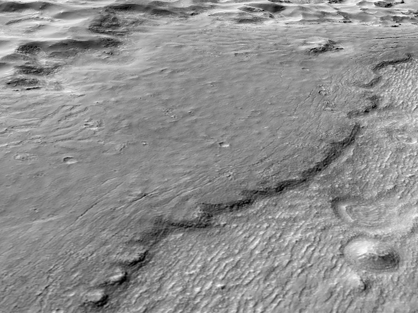 Researchers analyze traces of volcanic activity and water flooding in Hrad Vallis on Mars