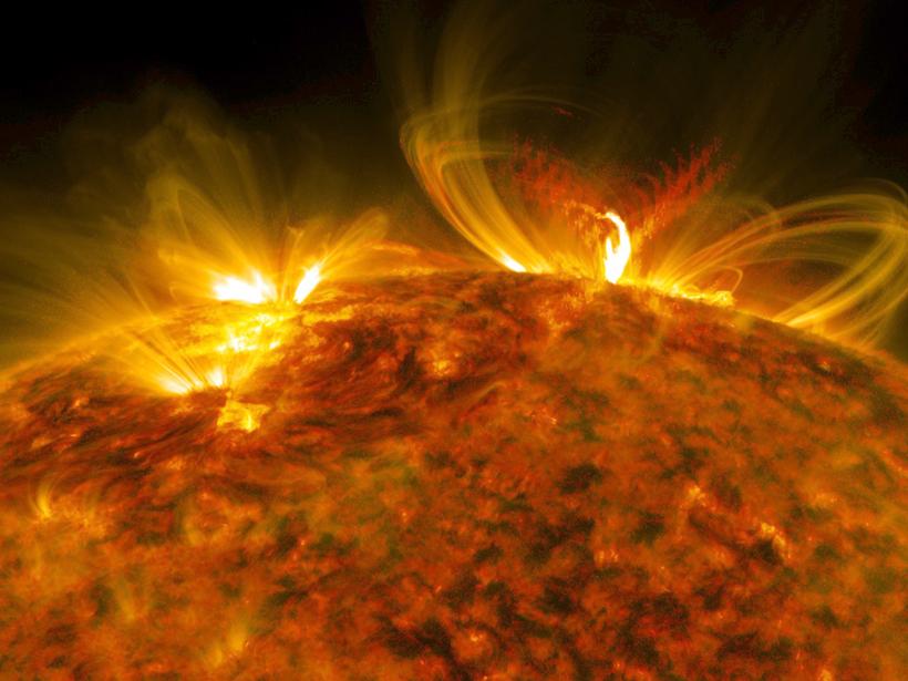 The 10 September 2017 X class solar flare in ultraviolet light.