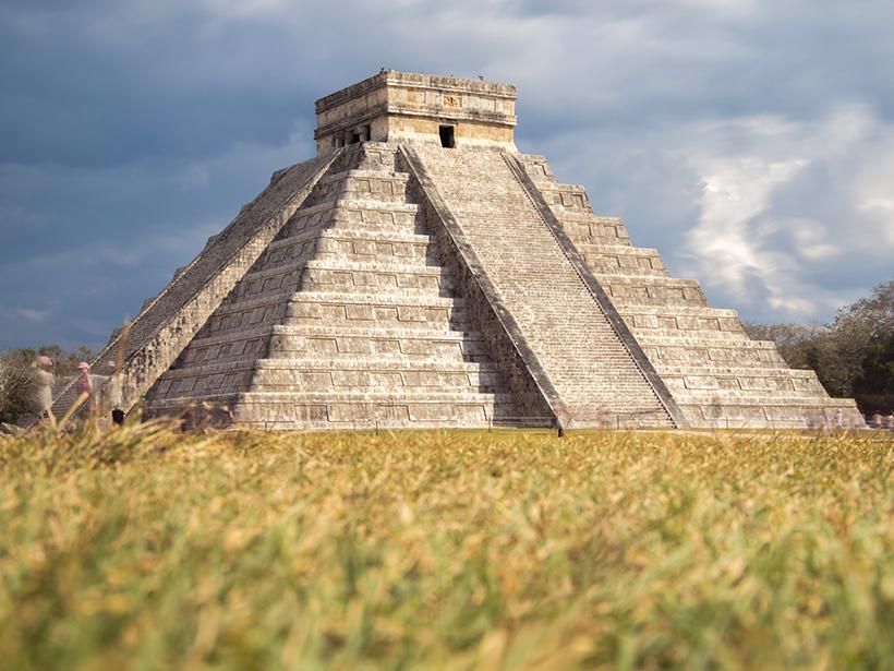 El Castillo, a pyramid in the ancient Maya city of Chichén Itzá.