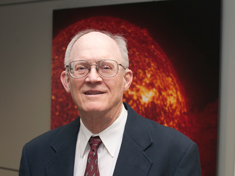 Jack Gosling at the Laboratory for Atmospheric and Space Physics, Space Sciences Building, at the University of Colorado Boulder