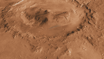 Pools of briny water likely exist on Mars. Some might even exist in Gale Crater, Curiosity's landing site, seen here.