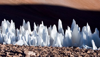 Penitentes in the Andes mountains in Chile. Could similar ice spires exist on Europa?