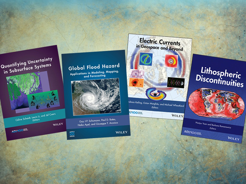 Four of 12 new volumes published in 2018 by AGU and Wiley