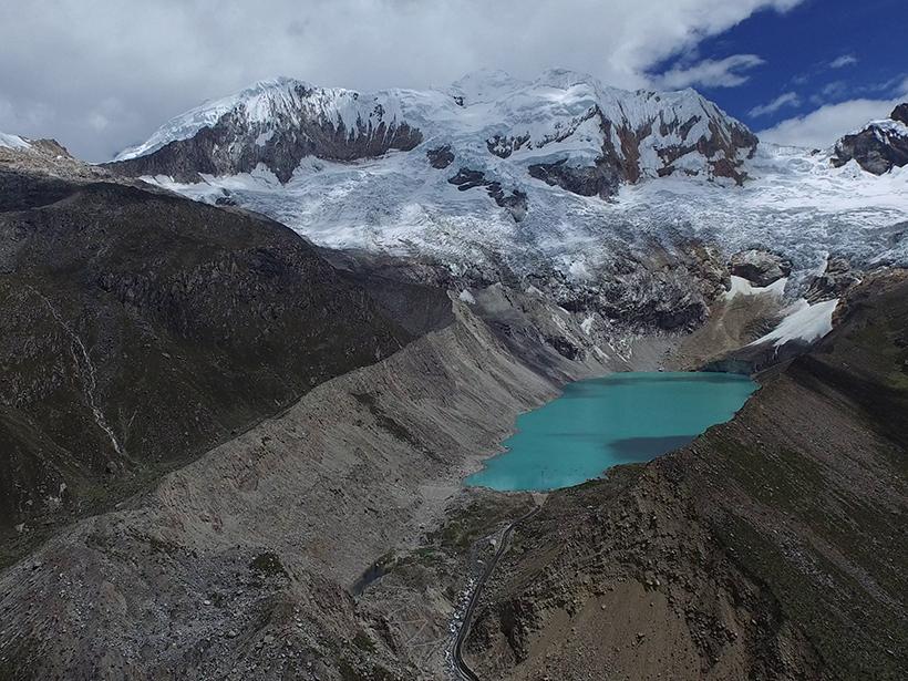 Palcacocha Andes Peru glacier lake