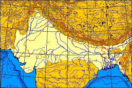 The Ganga and the Indus rivers form the Indo-Gangetic Plain