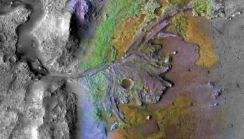 Jezero Crater River Delta on Mars