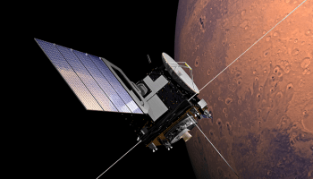 An artist's rendering of the Mars Express spacecraft