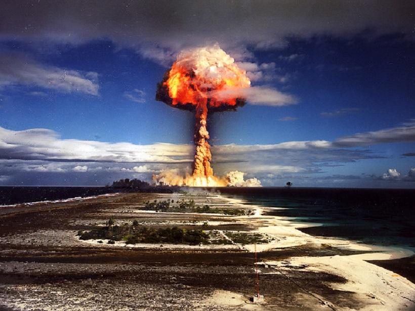 A 1970 nuclear test at Mururoa atoll, French Polynesia