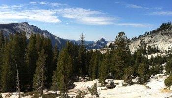 Vista of Half Dome and Yosemite National Park
