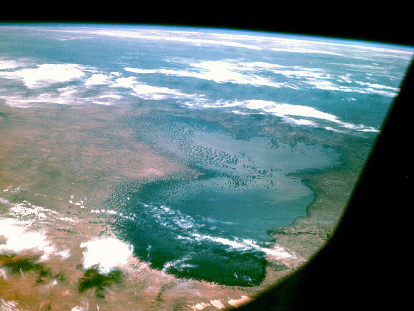Lake Chad as seen from Apollo 7 in 1968