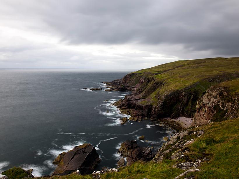 Photo of a gorgeous rocky coastline
