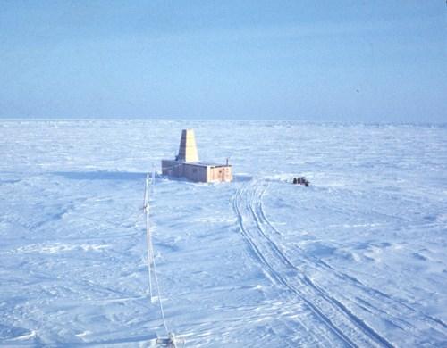 USGS Hydrohut on the ice island in 1969