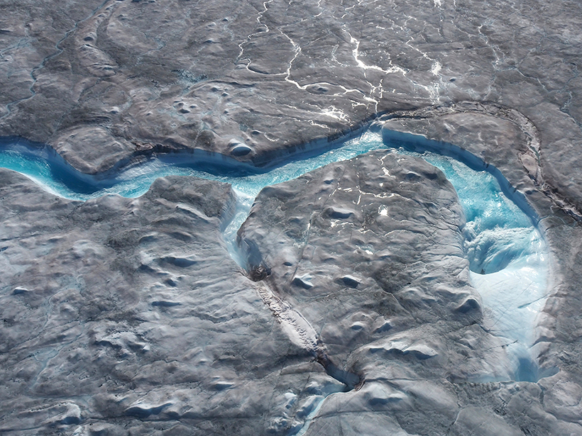 Melt river on Greenland Ice Sheet 1 August 2019