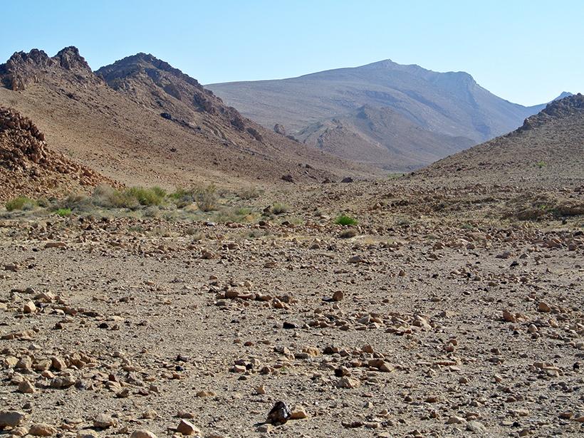 Rocky, steep-sided desert valley