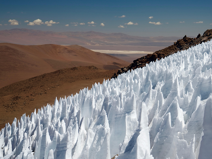 A field of penitentes