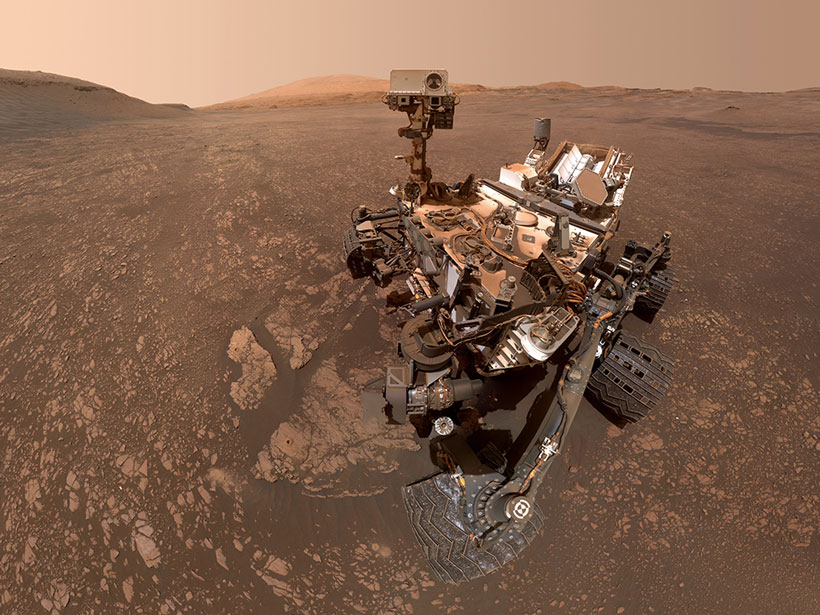 The Curiosity rover sits on the surface of Mars on 12 May 2019.