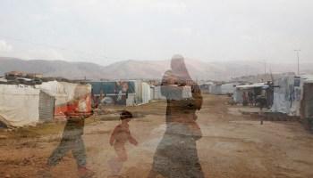 An informal refugee camp in Bekka Valley, Lebanon.