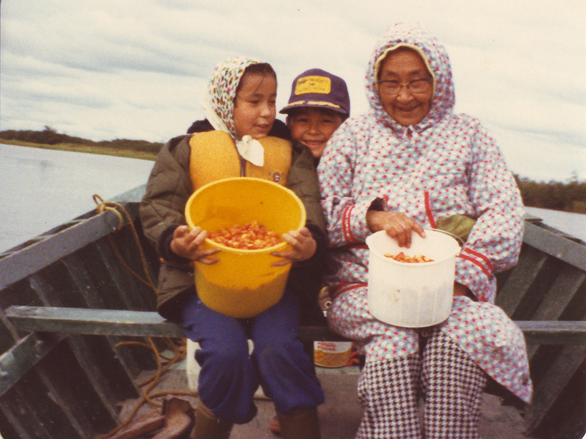 Raychelle Daniel and family on a boat off the Alaskan coast circa 1980.