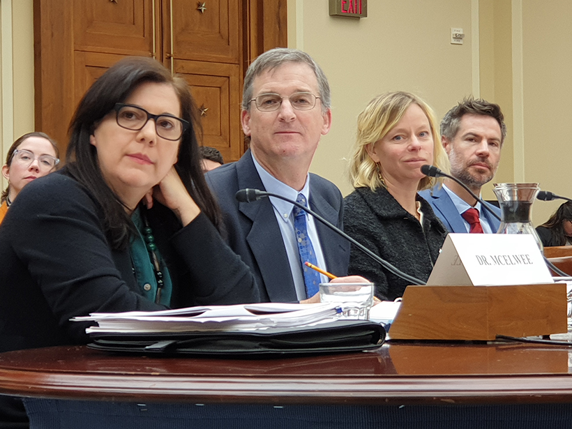 A panel of scientists testifies before Congress.