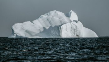 Iceberg floating in the Arctic Ocean
