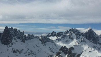 Photo of snowpack in the Sierra Nevada