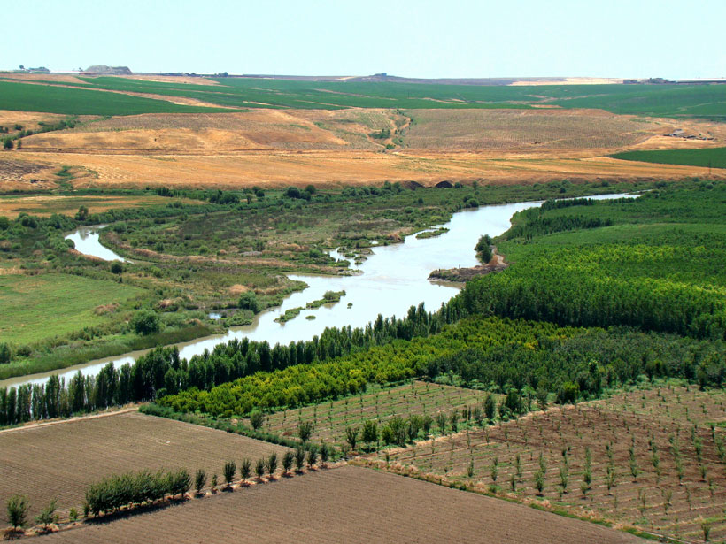 The Tigris River near Diyarbakir, Turkey