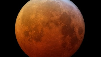 A red moon during total lunar eclipse