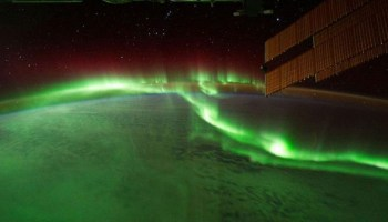 An aurora as seen from the International Space Station