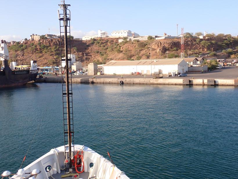 R/V Endeavor in port in Cape Verde