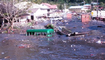 In September 2009, a tsunami triggered by a magnitude 8.1 earthquake in the Tonga Trench inundated towns in American Samoa.