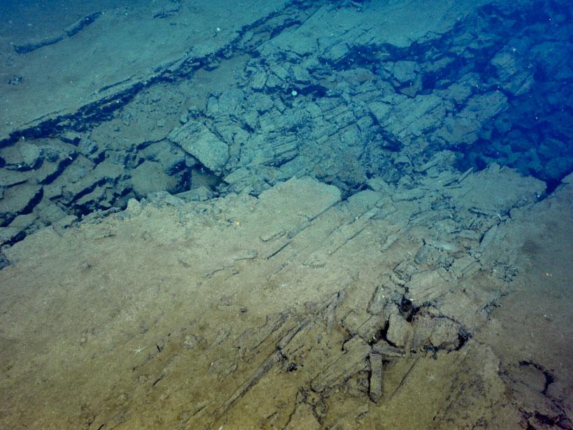 Rift in the seafloor