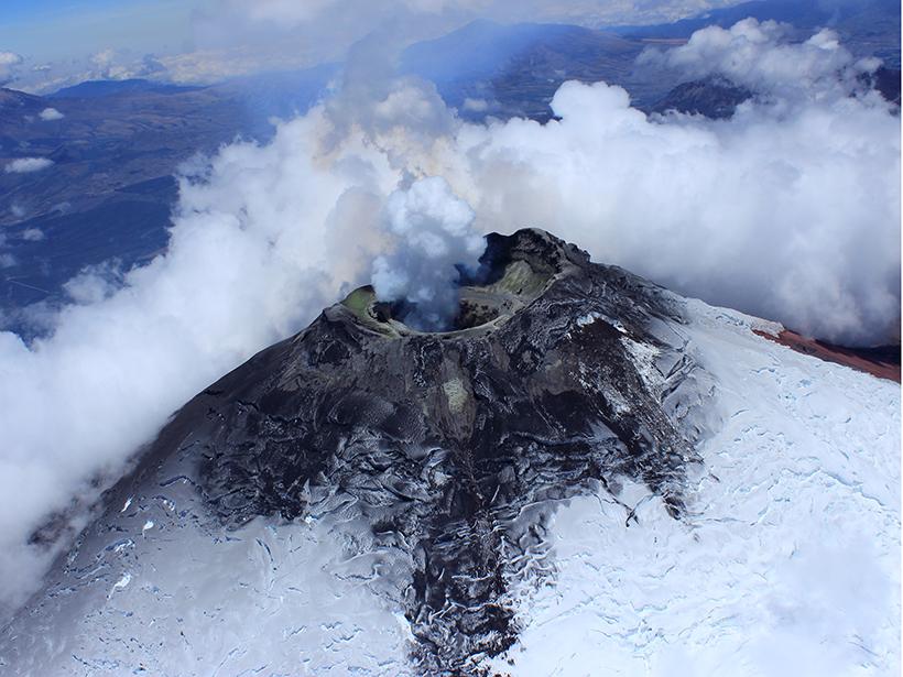 A view of Ecuador's Cotopaxi volcano