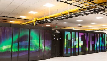 The central processing unit–based Cheyenne supercomputer at the National Center for Atmospheric Research (NCAR)–Wyoming Supercomputing Center