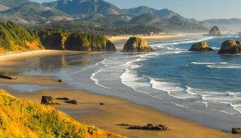A beach scene along the Oregon coast