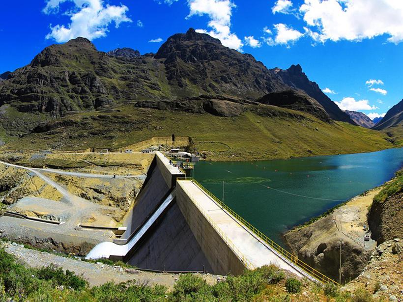 The Huanza hydroelectric dam near Lima, Peru