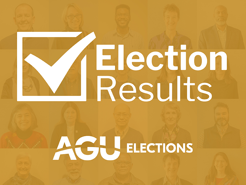 AGU election results graphic